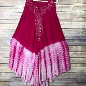 tie dye coverup/dress pink/white One size